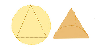 Pliage crepe triangle