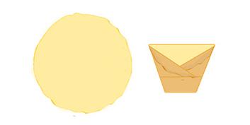 Pliage crepe en enveloppe