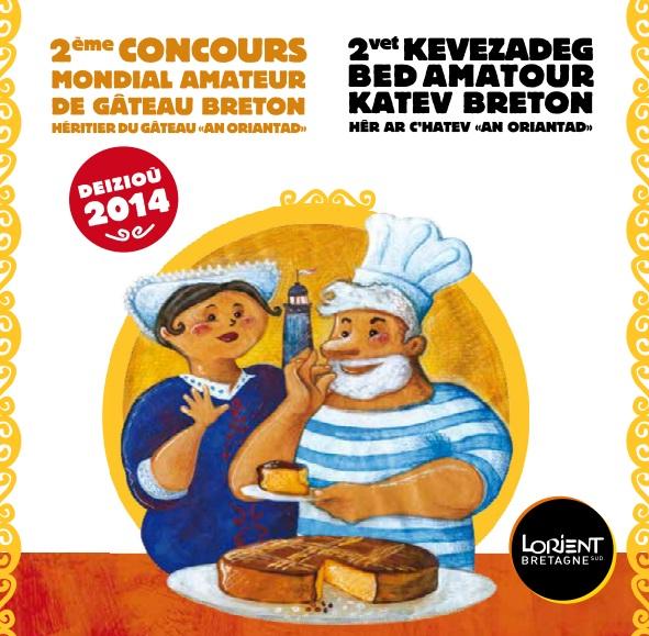 L'affiche officielle du concours du gâteau breton