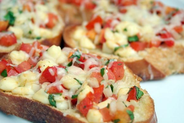 Bruschetta tomate sardine