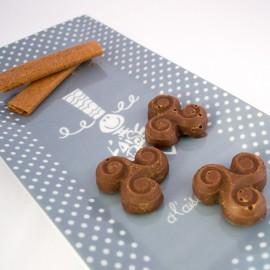 Chocolats maison croustillants au praliné, noisettes et crêpes dentelles