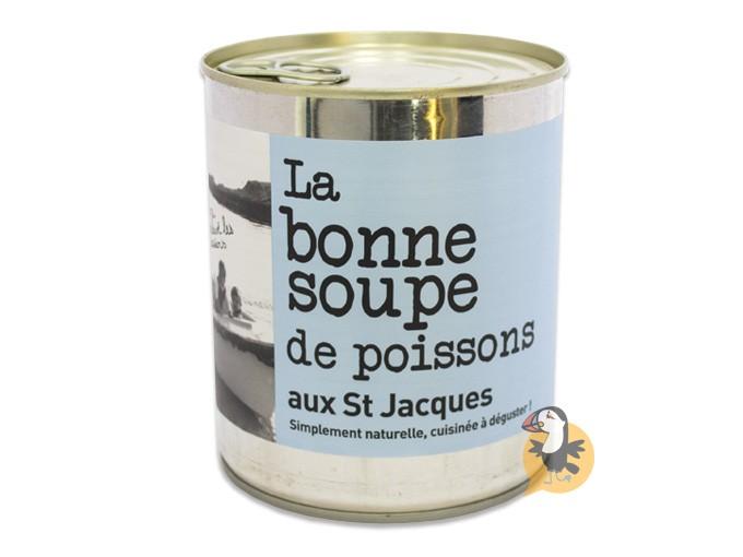 Soupe de poissons aux St-Jacques L'Atelier du Cuisinier
