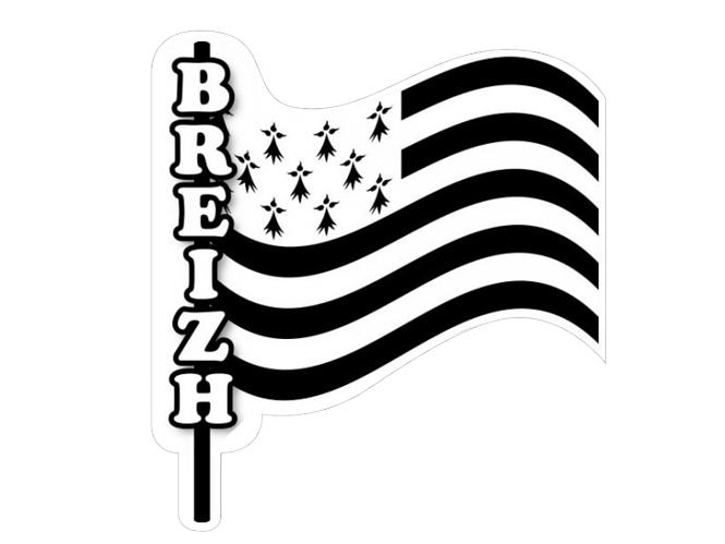 autocollant drapeau breton sur mat sticker hampe pavillon bretagne. Black Bedroom Furniture Sets. Home Design Ideas