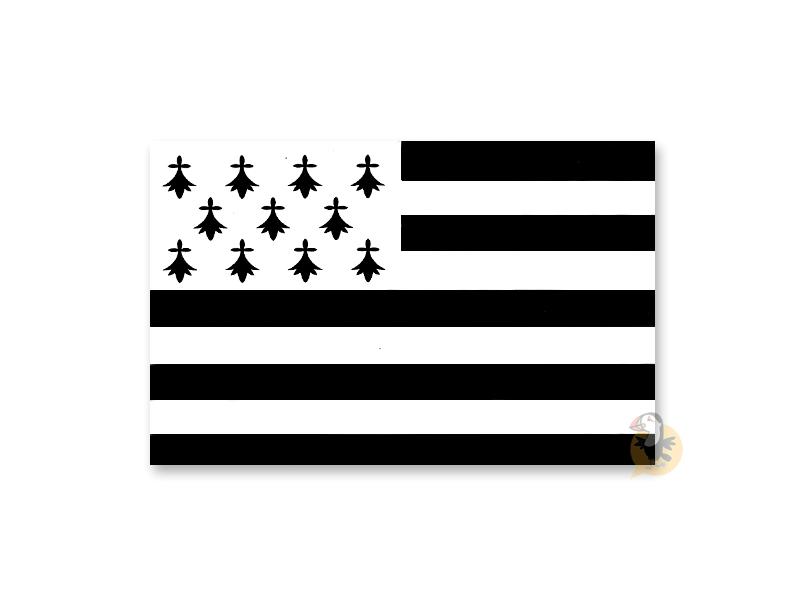 Autocollant drapeau breton Gwenn ha du