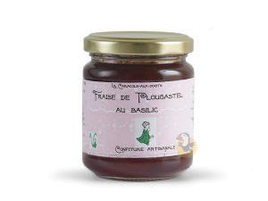 Confiture fraise de Plougastel et basilic Caracole