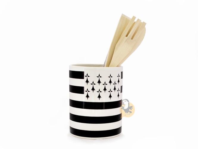 Pot à ustensiles drapeau breton