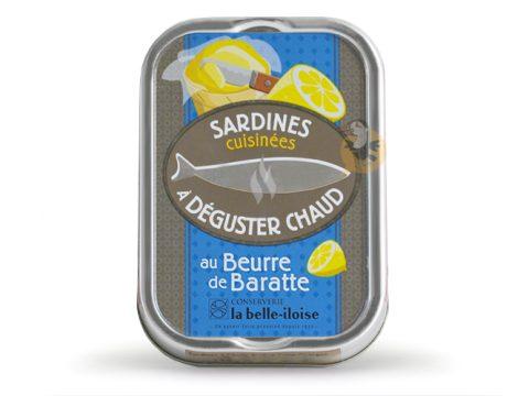 Sardines chaude au beurre de baratte La Belle-Iloise