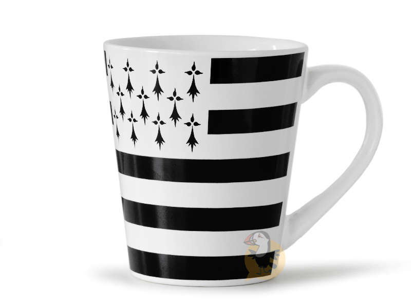 Tasse drapeau breton Gwenn Ha Du