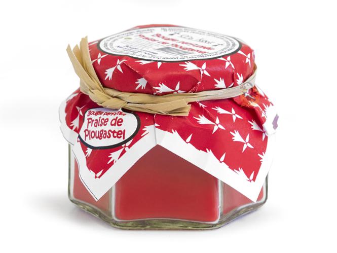 bougie parfum e artisanale la fraise de plougastel ma. Black Bedroom Furniture Sets. Home Design Ideas