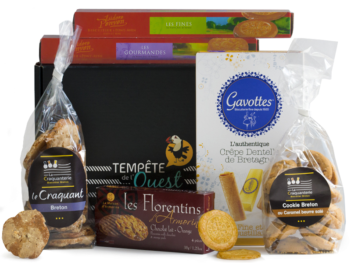 Panier garni biscuits bretons