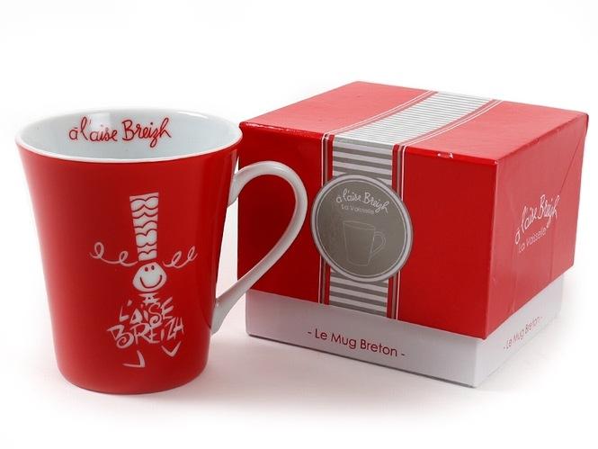 Coffret mug A l'Aise Breizh rouge
