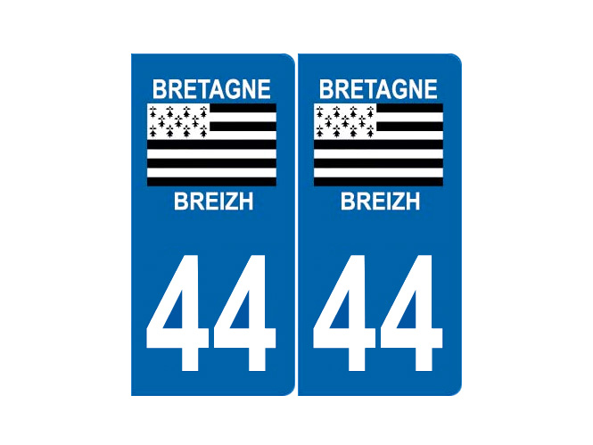 autocollant sticker plaque immatriculation loire atlantique 44. Black Bedroom Furniture Sets. Home Design Ideas