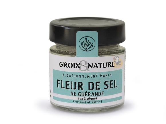Fleur de sel de Guérande aux 3 algues de Bretagne