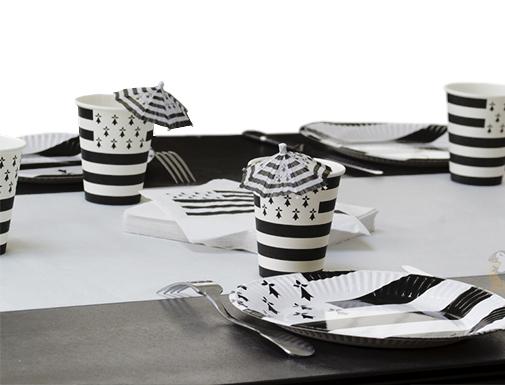 Décoration de fête et table bretonne / thème mer