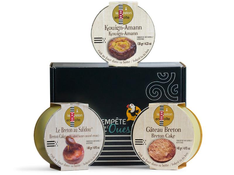 Coffret de 3 gâteaux bretons