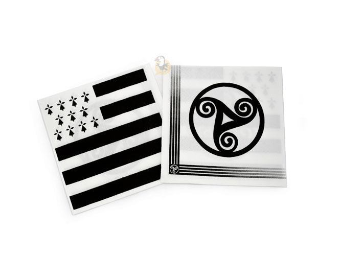 Mini serviettes drapeau breton