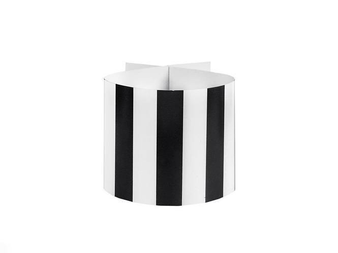 ronds-serviette-rayures-noire
