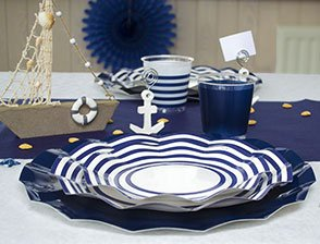 Idee Decoration Table Bretonne Deco Fete Theme Mer Marin