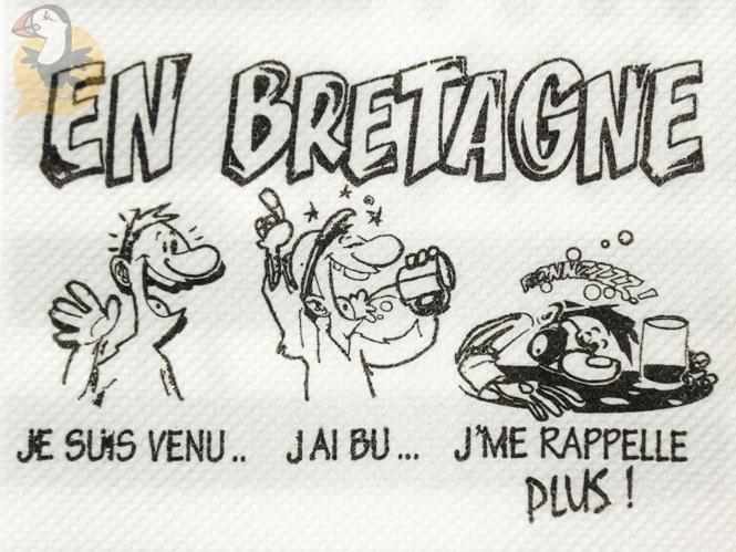 Mini Serviettes Bretonnes Cocktail En Papier Quot Humour Breton Quot