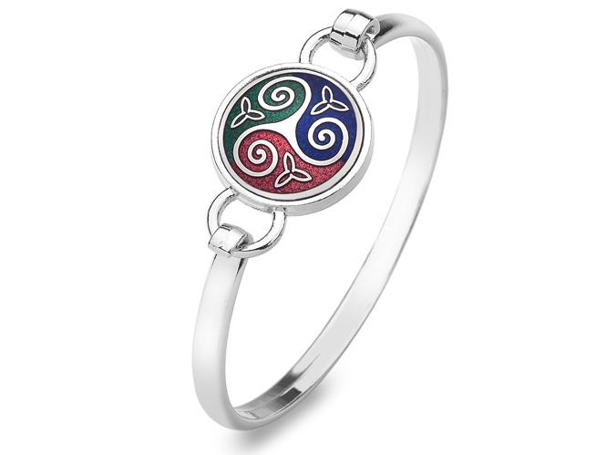 Bracelet celtique Triskell multicolore