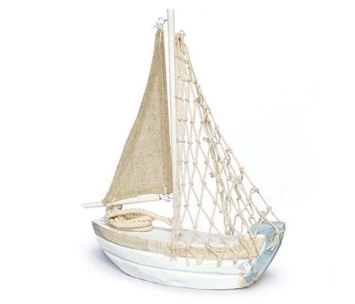 Bateau de p che d coratif hauteur 23 cm bateau bois d co de table - Decoration de bateau ...