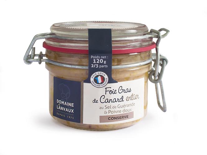 Foie gras de canard entier au sel de gu rande poivre doux 120g - Dosage sel et poivre pour foie gras ...