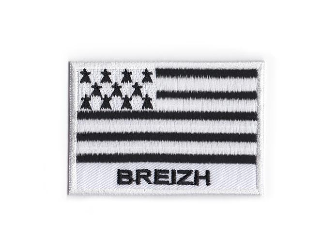 Porte cle cles clef brode patch ecusson badge drapeau bretagne breton