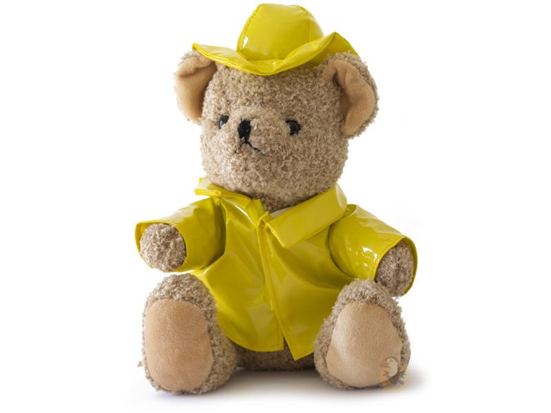 Peluche ours ciré jaune
