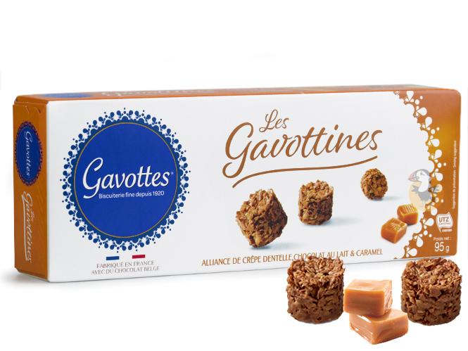 Gavottines chocolat au lait caramel