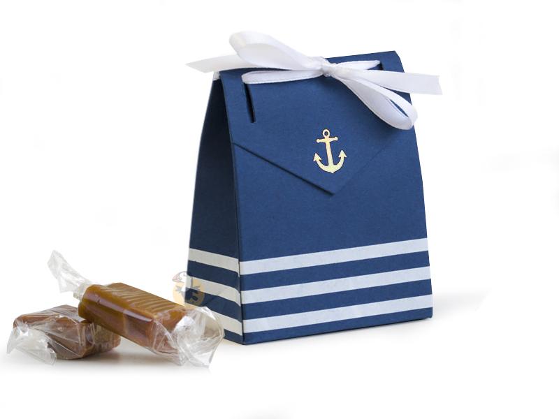 Boîte à dragées marinière