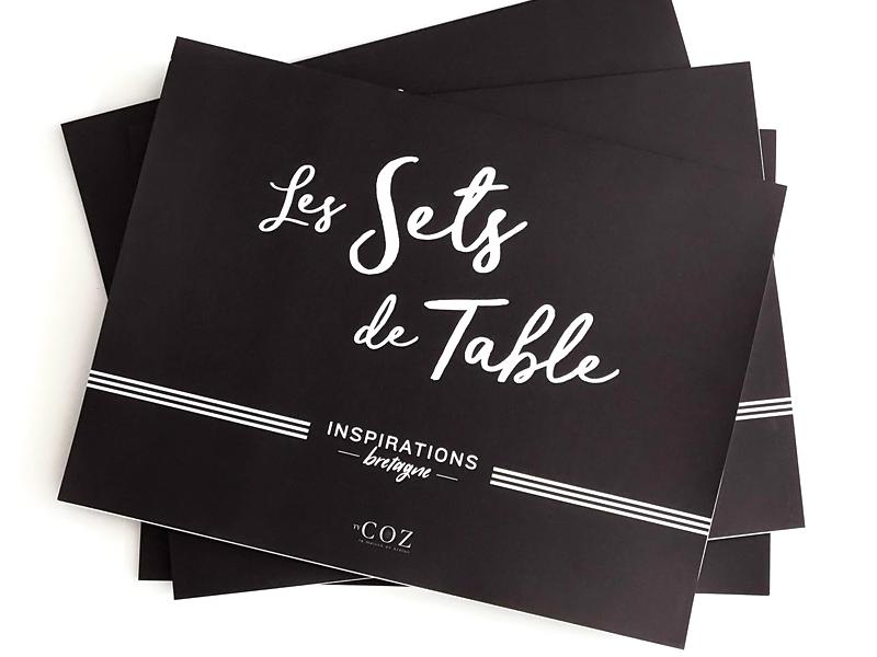 Set De Table En Papier Theme Breton Carnet 30 Sets
