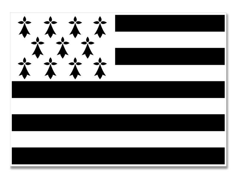 Sets de table en papier drapeau breton